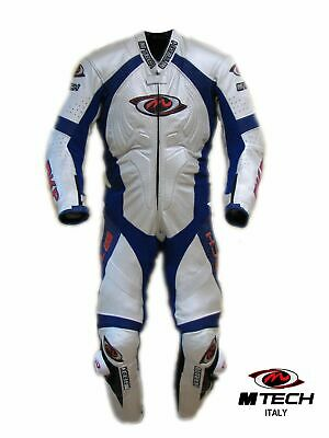$699 • Buy 1pc 1-pc Motorcycle Racing Leather Suit, M-Tech Italy - Size US 48, EUR 58