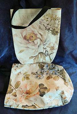 £10.99 • Buy Stylish France Floral Oilcloth Shopper Makeup Bowling Bag Large Small Various