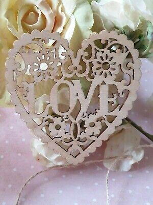 Laser Cut Intricate Love Heart For Hanging - Wood Ply - Rustic, Love, Wedding • 2.37£