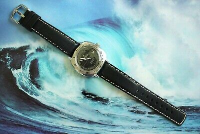 $ CDN806.11 • Buy Quality Unusual Vintage Pronto Submarine W/r Stainless Divers Watch Triple Black