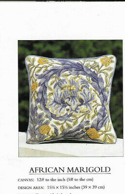 African Marigold Cushion William Morris Beth Russell Tapestry Needlepoint Chart • 3.99£