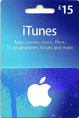 AU33.70 • Buy ITunes Gift Card UK  £15 GBP Apple App Store Key Code £15 Pound British English