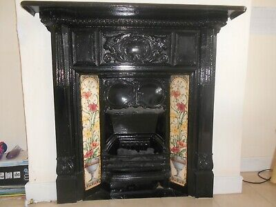 Victorian Style Cast Iron Fireplace With Gas Fire, And Cast Iron Surround • 600£