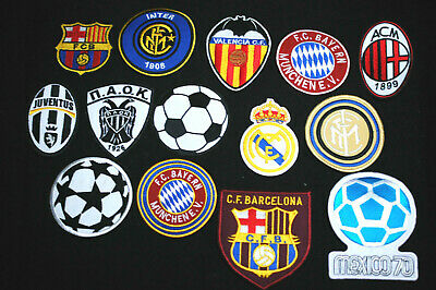 Fotball Patches - Iron/Sew On - International - Home  - Away - 24 Types  • 2£