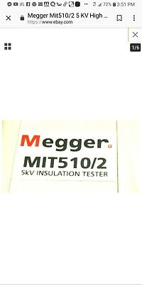 $1440 • Buy Megger Mit510/2Insallation Resistance Tester. Excellent Condition