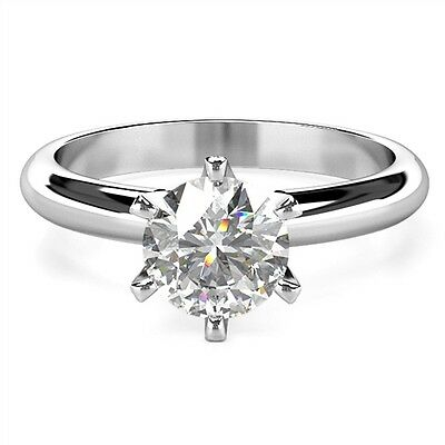 0.50ct E SI2 GIA Platinum. HALF Carat Diamond Solitaire Platinum Ring. GIA Cert • 1,095£