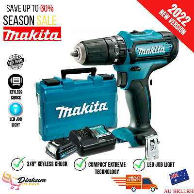 AU136.87 • Buy New Makita Cordless Drill Driver Power Tool Combo Kit With Charger Battery Set