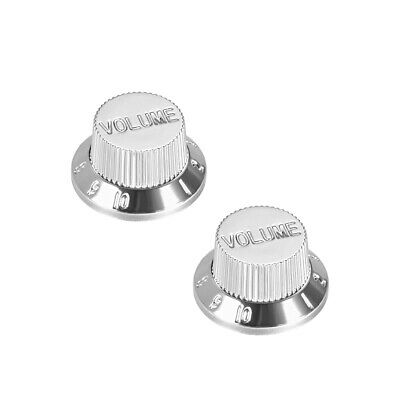 $ CDN8.57 • Buy 6mm Potentiometer Knobs Guitar Acrylic Volume Tone Knob 2pcs Silver Tone