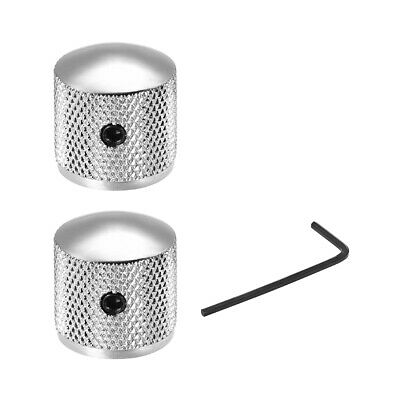 $ CDN9.71 • Buy 2pcs 6mm Metal Potentiometer Knobs For Guitar Bass Volume Tone Knobs Silver Tone