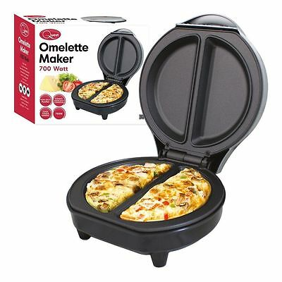 700-Watt Omelette Maker Frying-Pan Egg Cooker Non-Stick Breakfast Kitchen • 18.99£