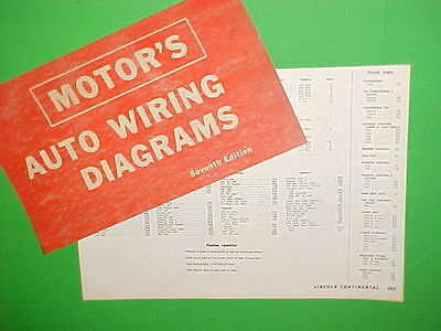 $24.99 • Buy 1963 1964 1965 1966 1967 Lincoln Continental Convertible Sedan Wiring Diagrams