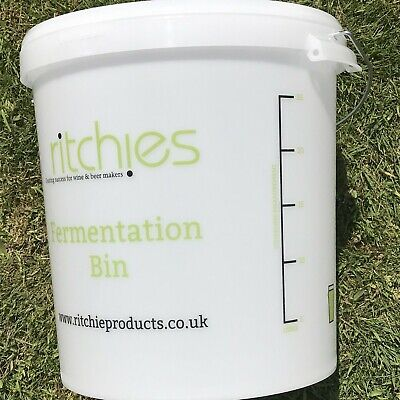 33 Litre Ritchies Fermentation Bucket + Lid & Grommet For An Airlock - Homeb • 14.95£