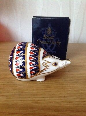 £220 • Buy ROYAL CROWN DERBY 'Hedgehog' Paperweight, Excellent Condition, Gold Stopper. Box
