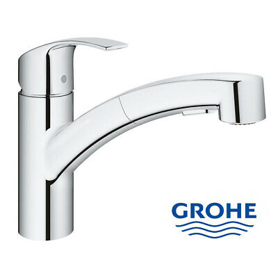 Grohe Eurosmart Pull-Out Single-Lever Kitchen Tap • 124.90£