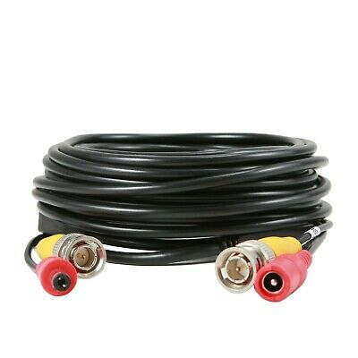 AU9.99 • Buy SANNCE 1x Black BNC Cable 8M/ 25FT DC All In One Video Power Extension Cord