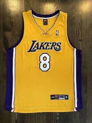 0afc59ccd01 Vintage NIKE Authentic KOBE BRYANT  8 Los Angeles LA Lakers Jersey Size 48  44 •