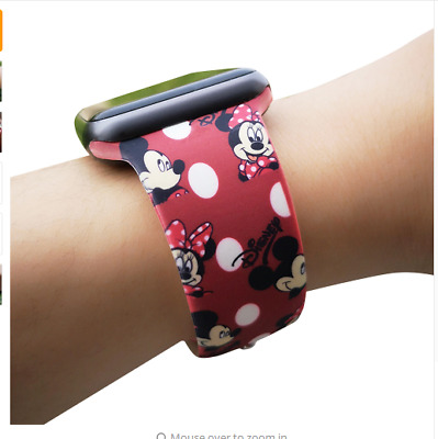 AU12.99 • Buy Mickey Wrist Strap Silicone Sport Band For Apple Watch Series 54 3 2 1 Watchband