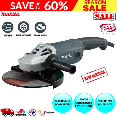 AU183.95 • Buy Makita 9  Angle Grinder 230mm 9 Inch Powerful 2000W Cord M9001G Trigger Switch