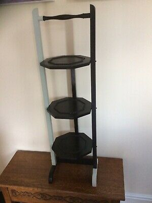 £55 • Buy Cake Stand, Vintage C 1950's 3 Tiers Folding