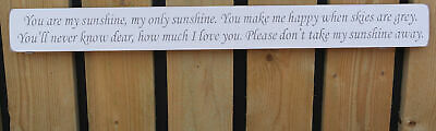 £22.99 • Buy Handmade Wooden Sign You Are My Sunshine, My Only Sunshine, You Make Me Happy