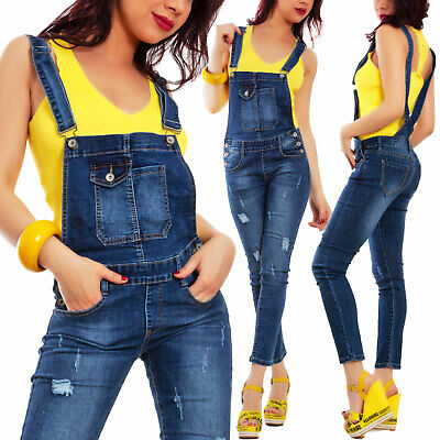 3f58b1b4481a Salopette Donna Overall Denim Jeans Tuta Aderente Skinny Sexy TOOCOOL A1539  • 22.99€