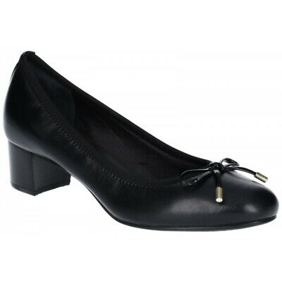 Rockport TOTAL MOTION GITTY LUXE Ladies Womens Leather Slip On Court Shoes Black • 75£