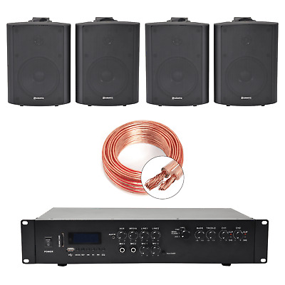 Inta Audio Home/Office Music System With 4 Wall Speakers • 215£