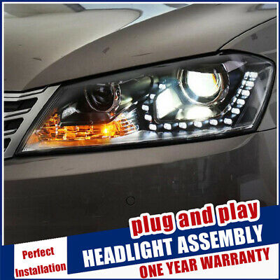 AU923 • Buy For VW Passat B7 Headlights 2011-2014 Double Beam Lens Projector Tearful LED DRL