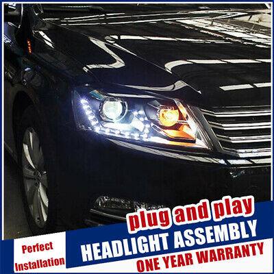 AU923 • Buy For VW Passat B7 Headlights 2011-2014 Double Beam Lens Projector Xenon Headlamps
