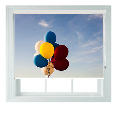 Blue Sky Balloons Photo Printed Blackout Childrens Roller Blinds Various Sizes  • 65£
