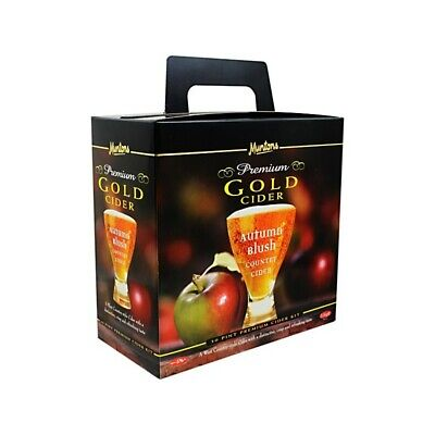 Muntons Premium Gold - Autumn Blush Cider Kit - Homebrew - Beer Brewing - Wine M • 36.95£