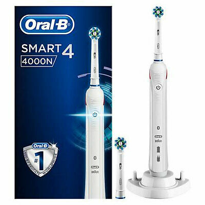 View Details Oral-B Smart Series 4000 CrossAction Electric Toothbrush White • 49.99£