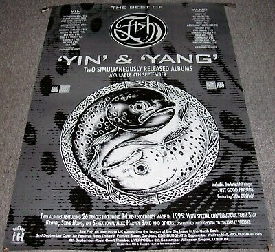 £65 • Buy Marillion Fish Record Company Promo/tour Poster For 2 X Albums 'yin & Yang' 1995