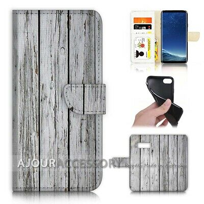 AU12.99 • Buy ( For Samsung S8 Plus / S8+ ) Flip Case Cover AJ21384 Old Timber Wood