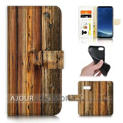 AU12.99 • Buy ( For Samsung S8 Plus / S8+ ) Flip Case Cover AJ21382 Old Timber Wood
