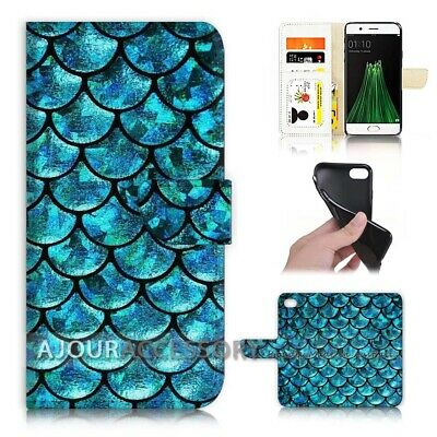 AU12.99 • Buy ( For Oppo A57 ) Wallet Flip Case Cover AJ21694 Blue Abstract