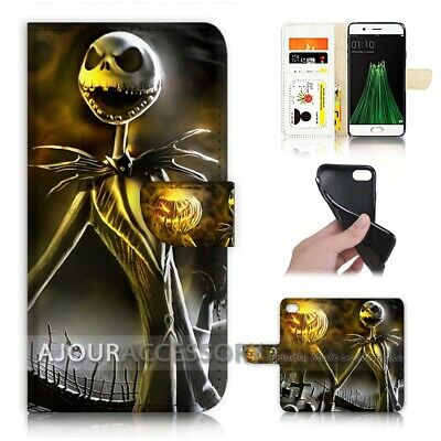 AU12.99 • Buy ( For Oppo A57 ) Wallet Flip Case Cover AJ21580 Nightmare Christmas