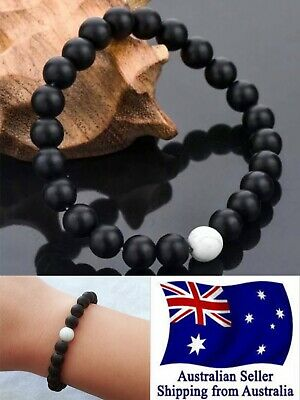 AU4.95 • Buy New Healing Lava Stone One White Bracelet Natural Oil Diffuser Aromatherapy 1pc
