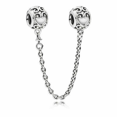 AU44.09 • Buy PANDORA Charm Sterling Silver ALE S925 ENCHANTED SAFETY CHAIN 797036