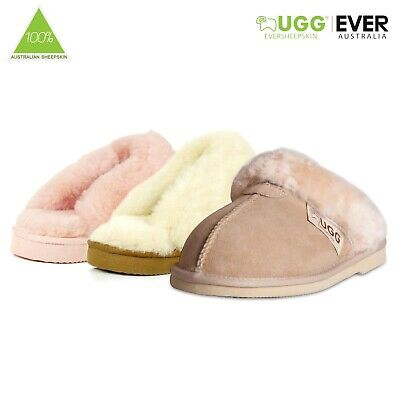 AU30 • Buy Ugg Scuff Sheepskin 100% Wool Slippers Australian Ladies Men Size 35-44 EU