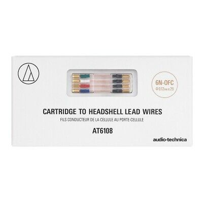 Audio Technica AT6108 Cartridge To Headshell Leadwires • 29£