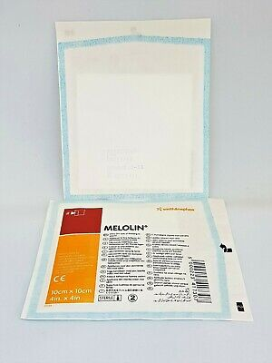 £4.95 • Buy MELOLIN DRESSING | 10cm X 10cm | PACK OF 10 | WOUND CARE FIRST AID NON ADHESIVE