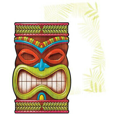 HAWAIIAN LUAU Tiki Time INVITATIONS (25) ~ Birthday Party Supplies Invites Cards • 5.65£