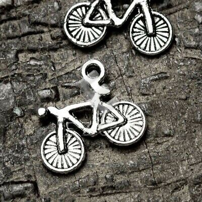 50pcs Tibetan Silver Spacer Charm Pendant Jewelry Making Bike 16x13.5x3mm EB • 3.09£