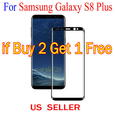 $ CDN2.05 • Buy Full Cover Curved Clear Screen Protector Guard Film For Samsung Galaxy S8 Plus