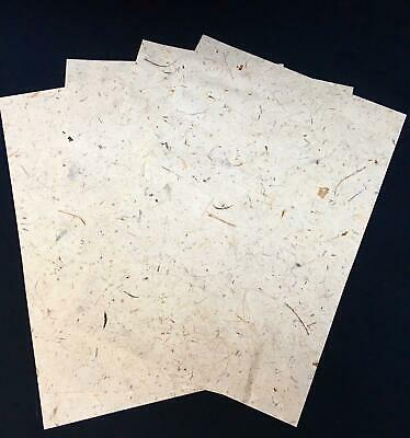 £2.99 • Buy Handmade Mulberry Paper 4 Sheets Art/craft/decoupage/coconut Wrap