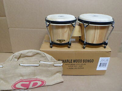 Latin Percussion CP Traditional Wood Bongos Natural - Tunable - CP221-AW - New! • 45.59$