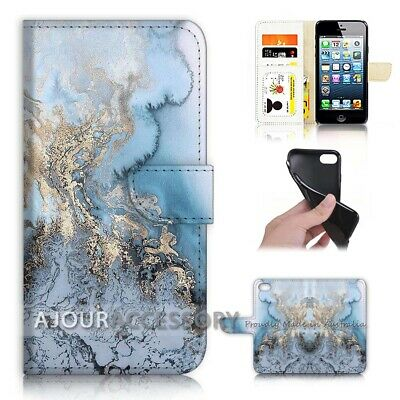 AU12.99 • Buy ( For IPhone 7 ) Wallet Flip Case Cover AJ21411 Marble Pattern