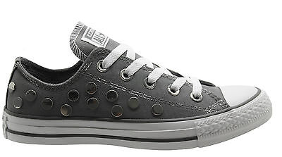 converse grises claro mujer