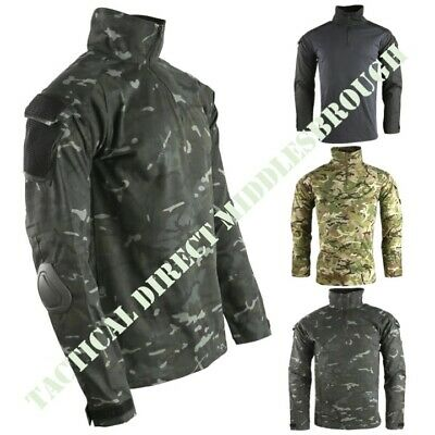 British Army Style Spec Ops Ubac Shirt With Elbow Pads Mens S-3xl Mtp Btp Camo • 29.95£